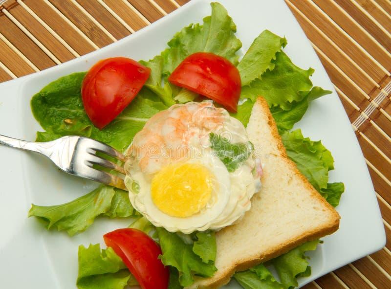 aspic γαρίδες αυγών στοκ εικόνες
