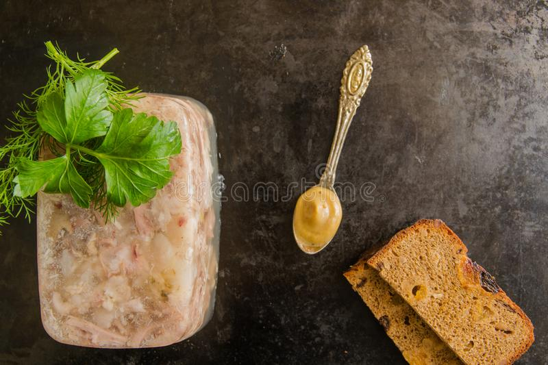 Aspic meat royalty free stock photos