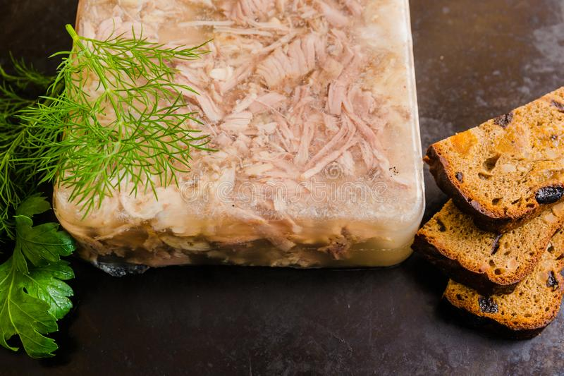Aspic meat stock photography