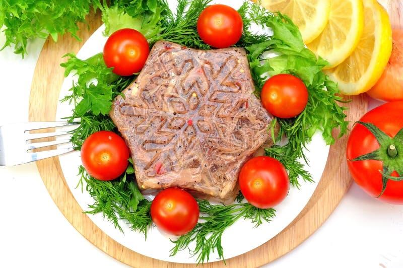 Aspic od mięsa obraz stock