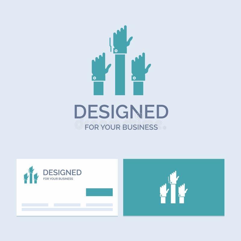 Aspiração, negócio, desejo, empregado, negócio atento Logo Glyph Icon Symbol para seu negócio Cart?es de turquesa com ilustração do vetor