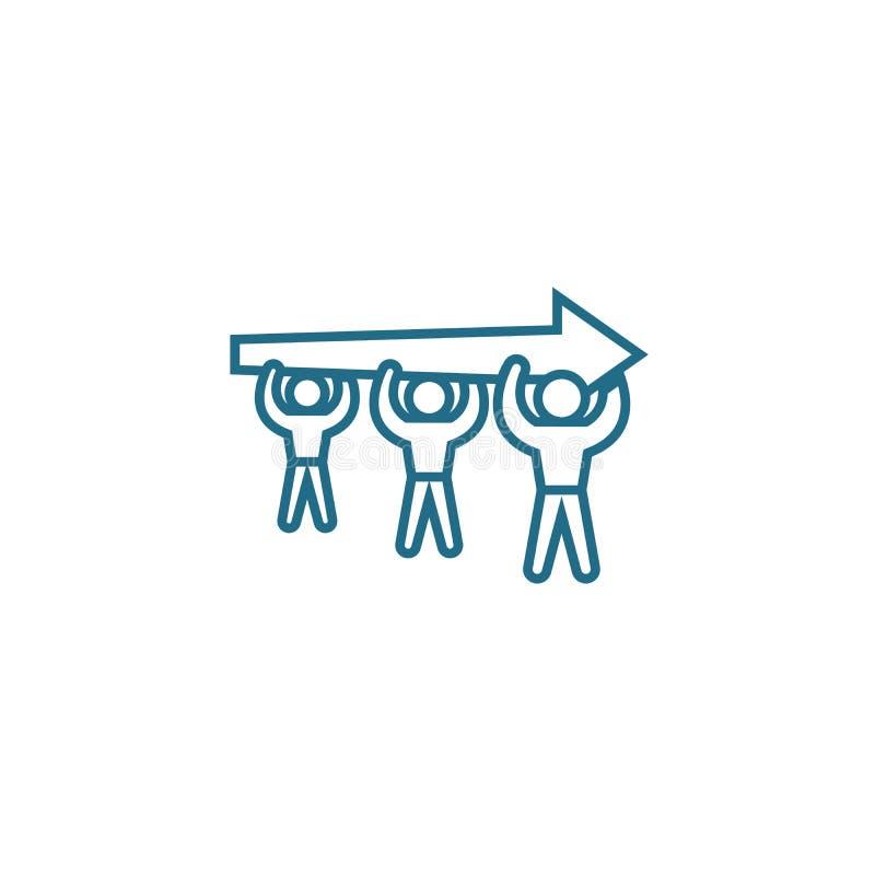 Aspiración para un concepto linear del icono del objetivo común Aspiración para una línea de objetivo común muestra del vector, s libre illustration