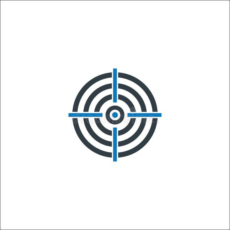 Aspiraciones, meta de negocio, icono de la blanco stock de ilustración