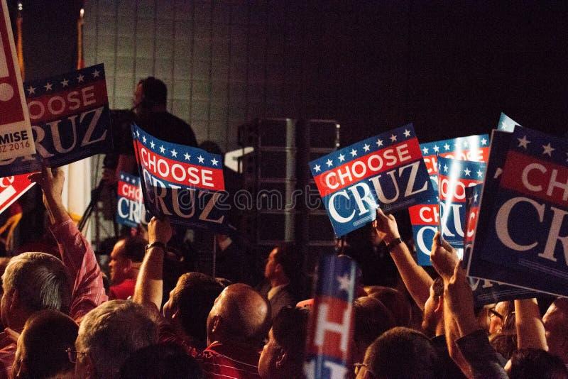 Aspirante a presidente Ted Cruz Supporters fotos de archivo libres de regalías