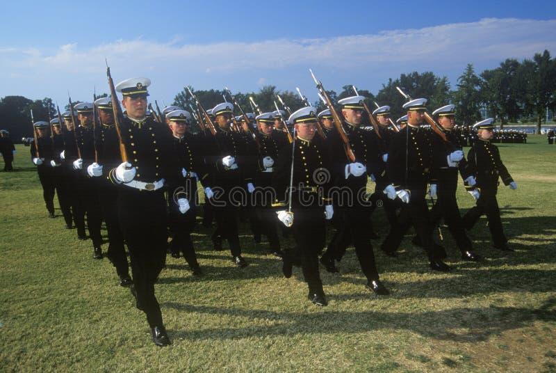 Aspirantes de marinha, Academia Naval do Estados Unidos, Annapolis, Maryland fotografia de stock royalty free