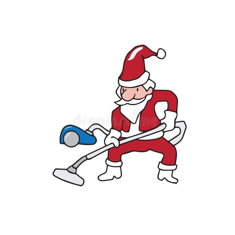 Aspirateur de Santa de personnes illustration stock