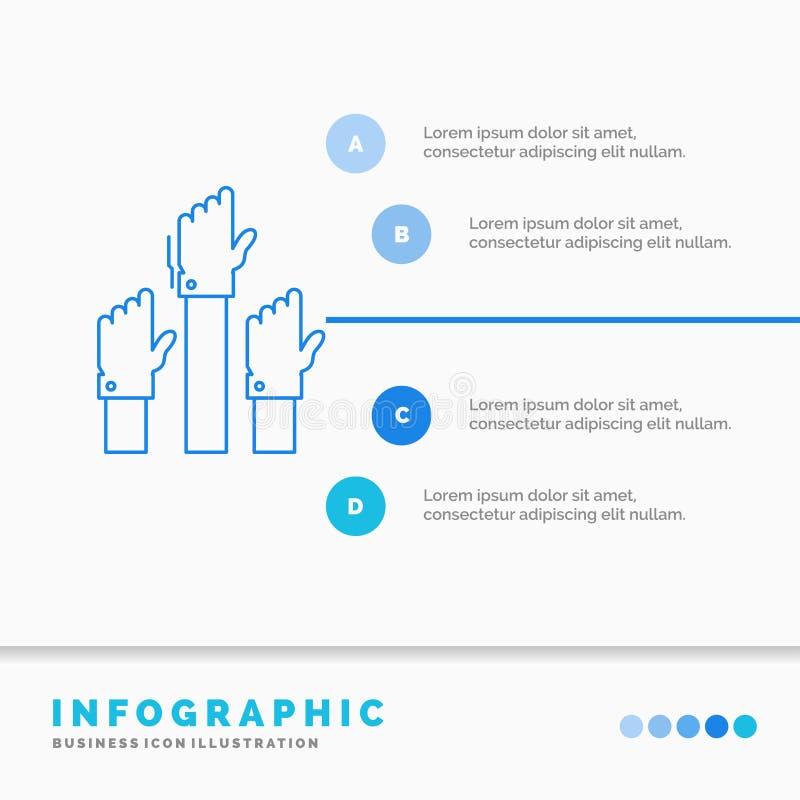 Aspiration, affaires, désir, employé, calibre attentif d'Infographics pour le site Web et présentation Ligne ic?ne bleue infograp illustration stock