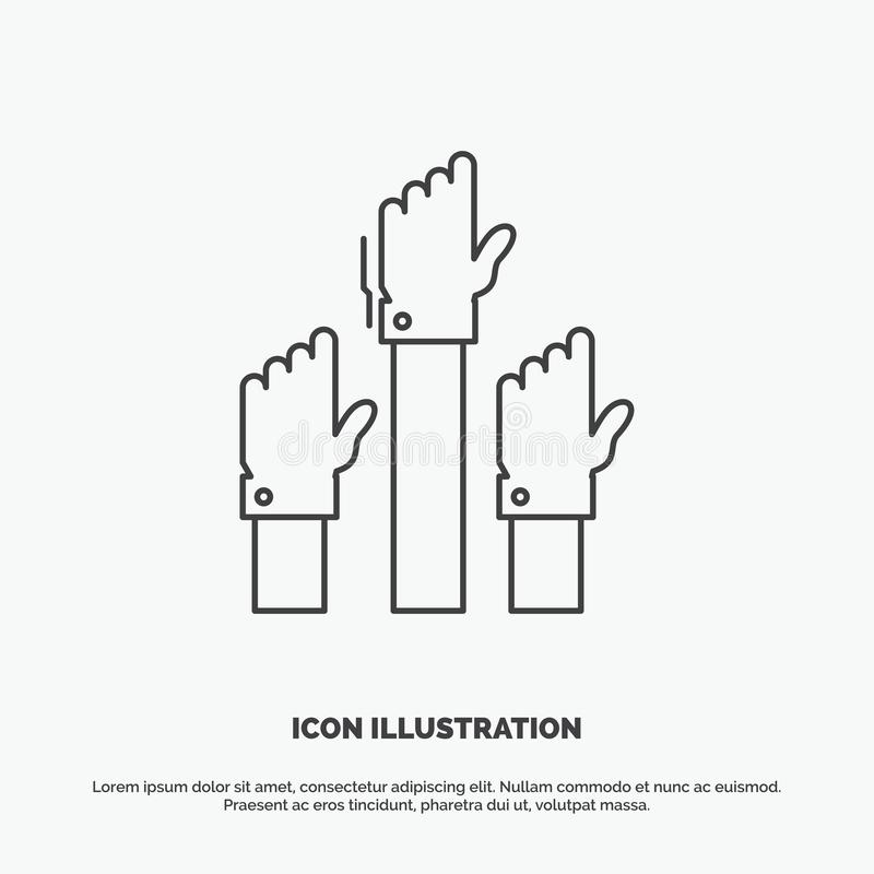 Aspiration, business, desire, employee, intent Icon. Line vector gray symbol for UI and UX, website or mobile application. Vector EPS10 Abstract Template vector illustration