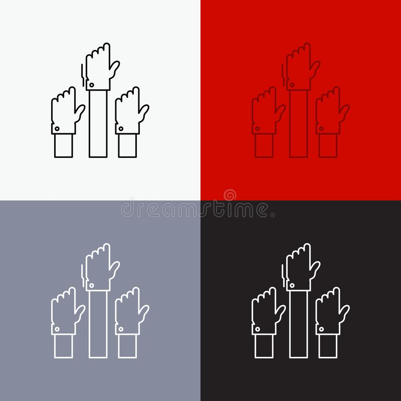 Aspiration, business, desire, employee, intent Icon Over Various Background. Line style design, designed for web and app. Eps 10 stock illustration