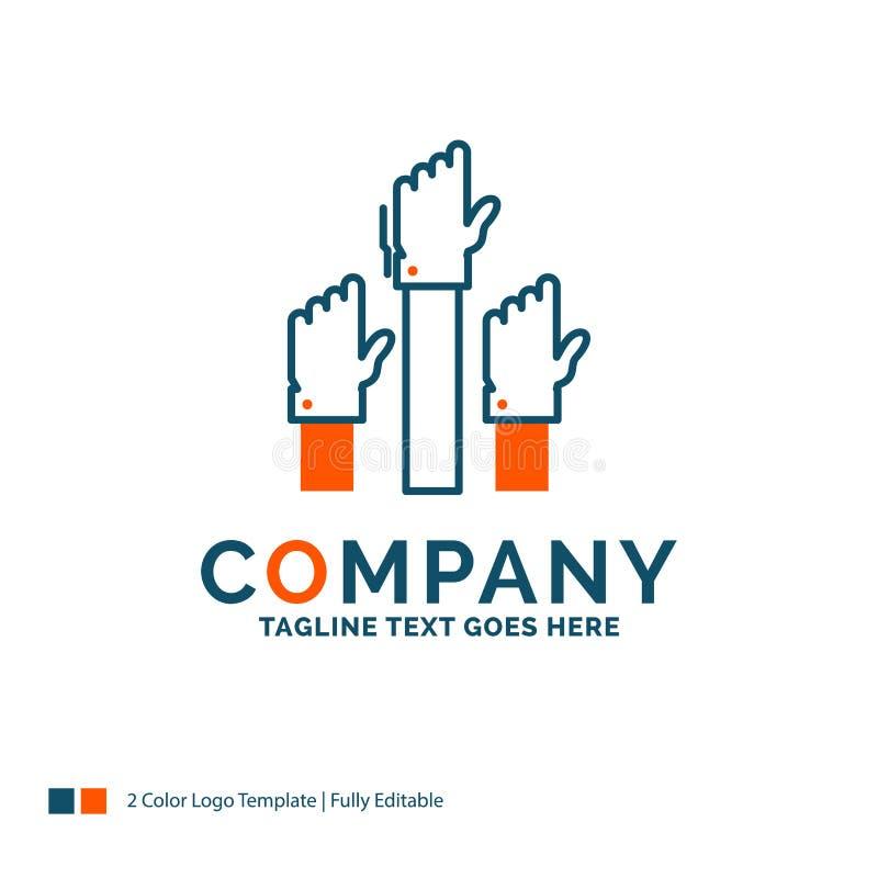 Aspiration, business, desire, employee, intent Logo Design. Blue vector illustration