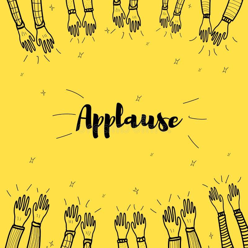 Aspiration de main d'applaudissements illustration stock