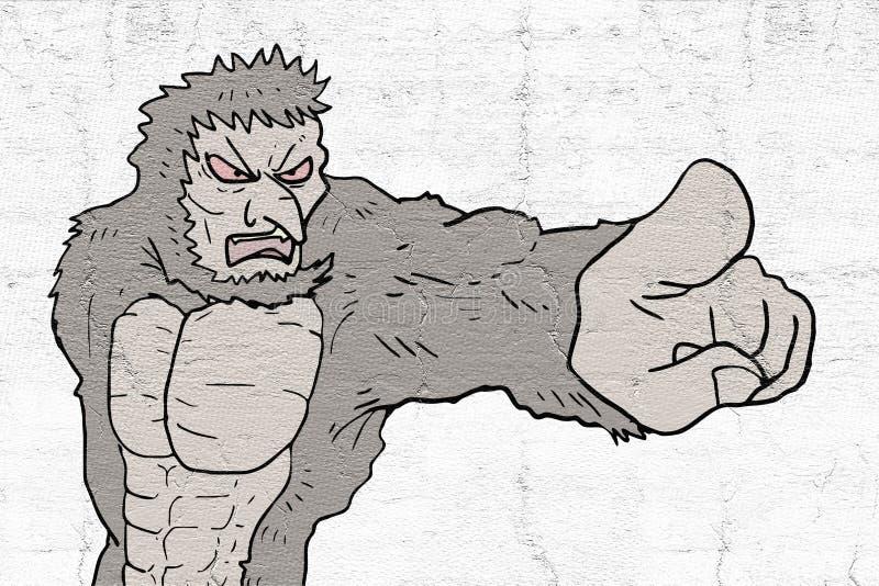 Aspiration de monstre de danger illustration stock