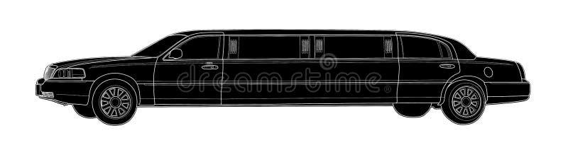 Aspiration de vecteur de limousine Conception simple moderne illustration libre de droits