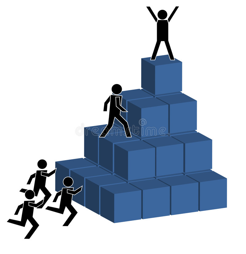 Aspiration für Erfolg stock abbildung