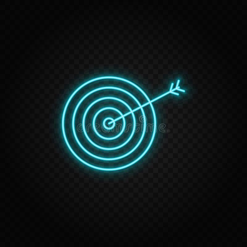 aspiration, icône de néon du tableau de bord Icône vectorielle néon bleu et jaune illustration libre de droits