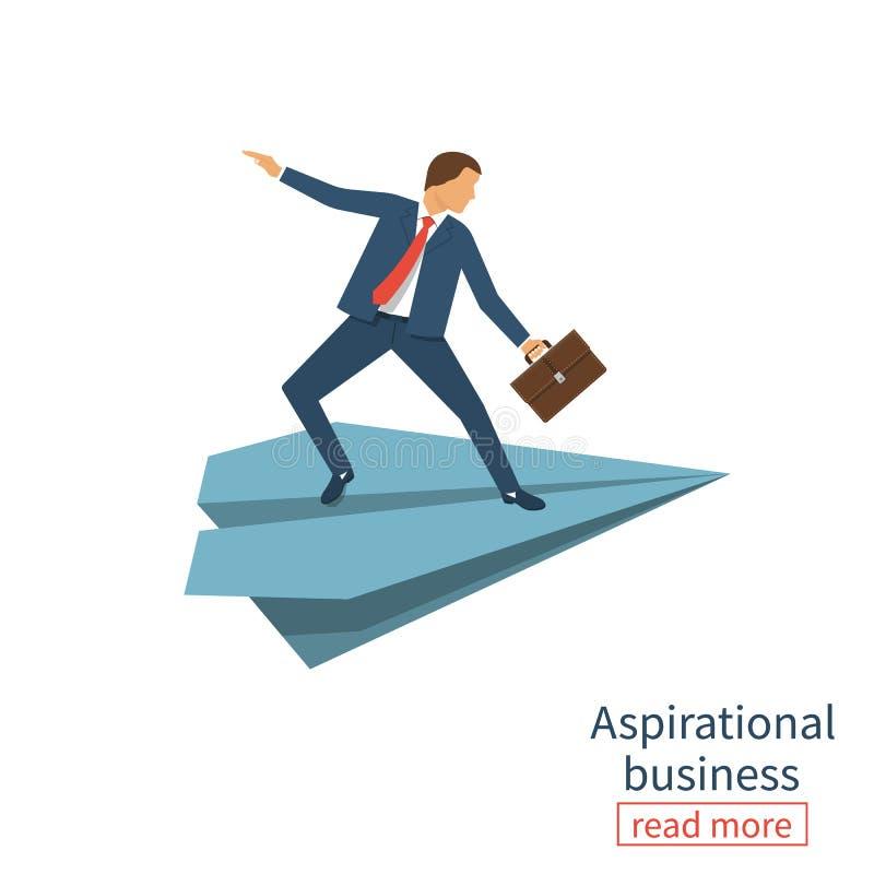 Aspirational business. Leadership stock illustration