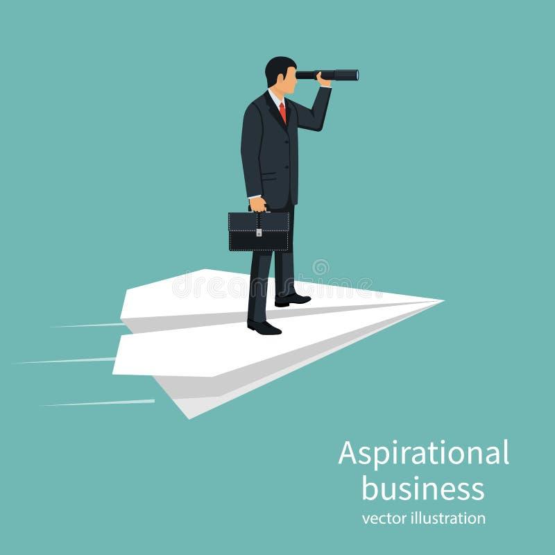 Aspirational business vector royalty free illustration
