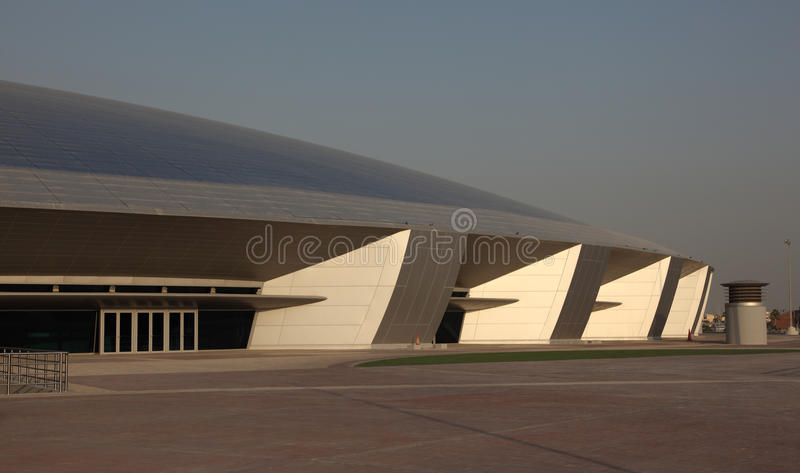 Aspire Dome and Academy, Doha. The Aspire Dome and Academy for Sports in Doha, Qatar royalty free stock image