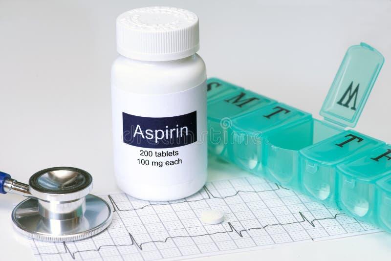 Aspirin diário foto de stock