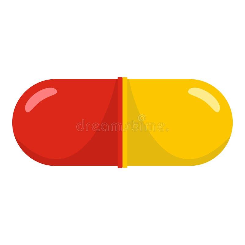 Aspirin-Ikone, Karikaturart vektor abbildung