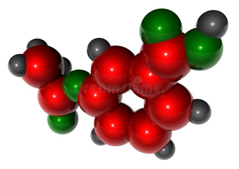 Aspirin molekularen stock abbildung