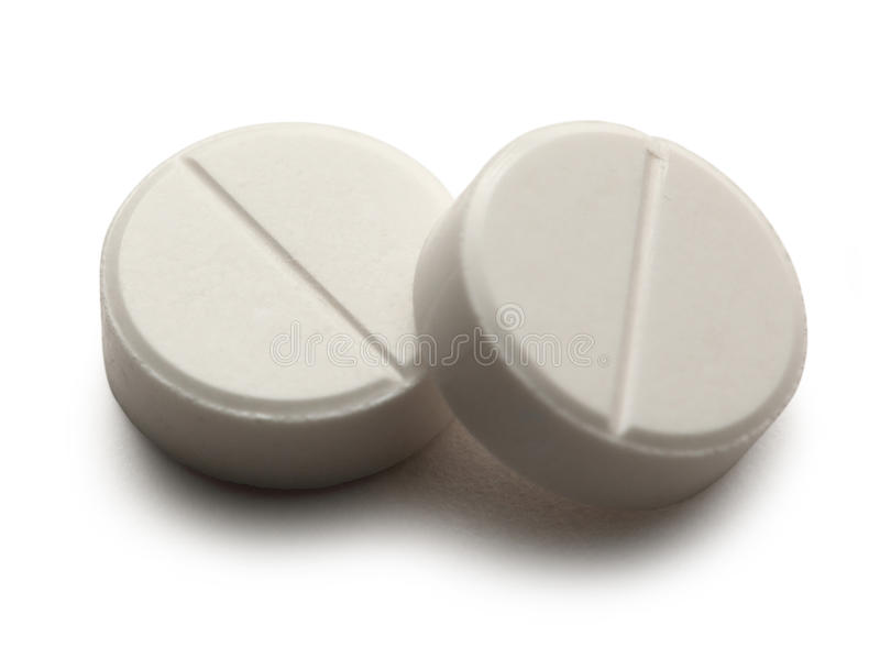 Aspirin-Pillen stockbild