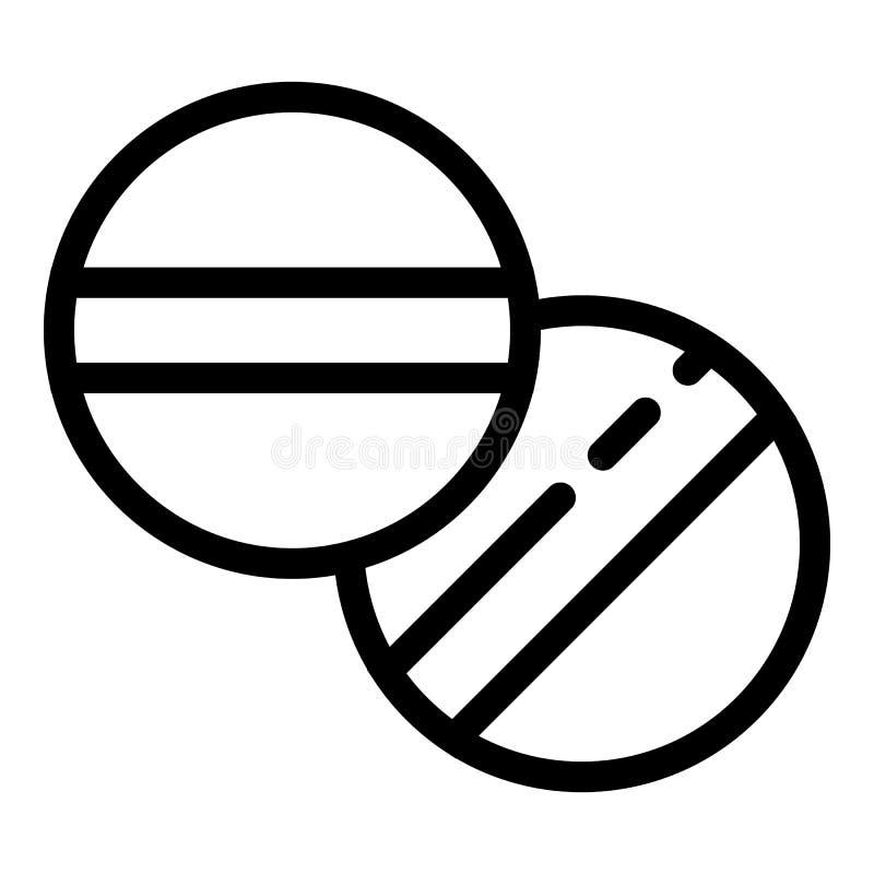 Aspirin tablets icon, outline style. Aspirin tablets icon. Outline aspirin tablets vector icon for web design isolated on white background royalty free illustration