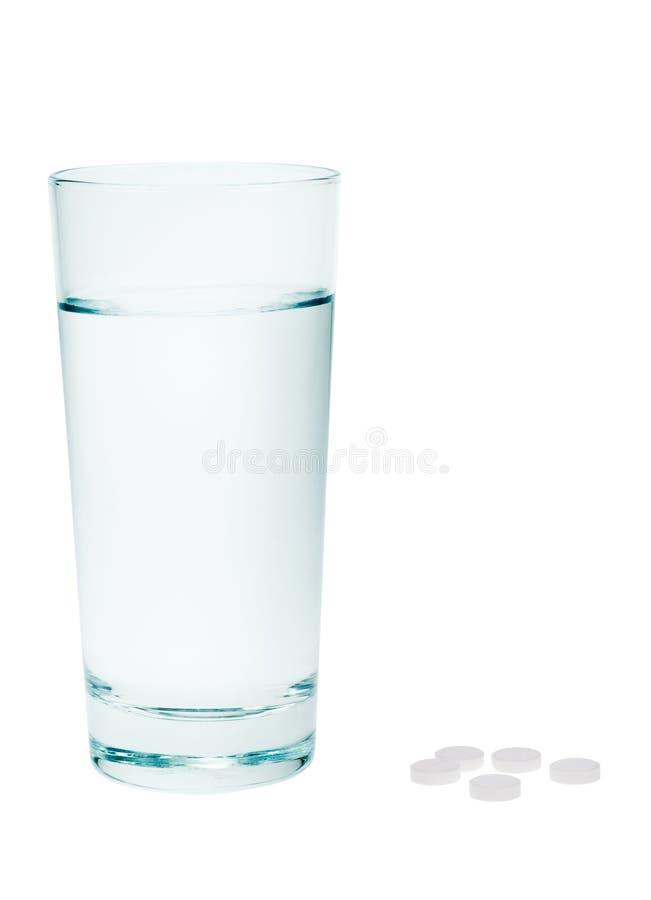 Aspirin und Wasser stockbild