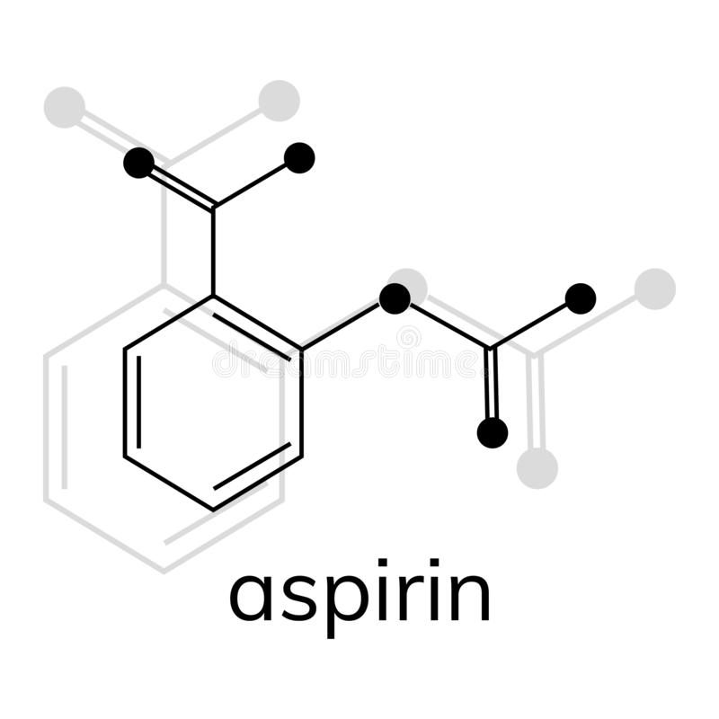 Aspirin vector icon on white background. Acetylsalicylic acid vector illustration