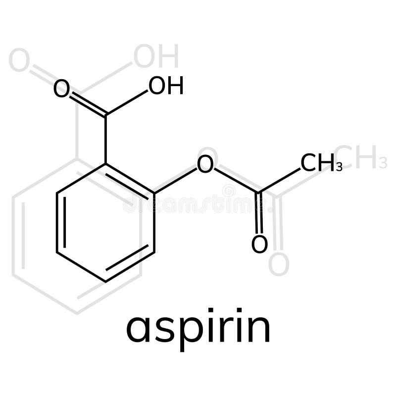 Aspirin vector icon on white background. Acetylsalicylic acid royalty free illustration