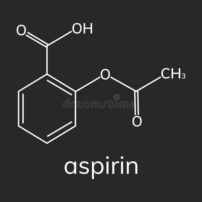Aspirin-Vektorikone auf dunklem Hintergrund stock abbildung