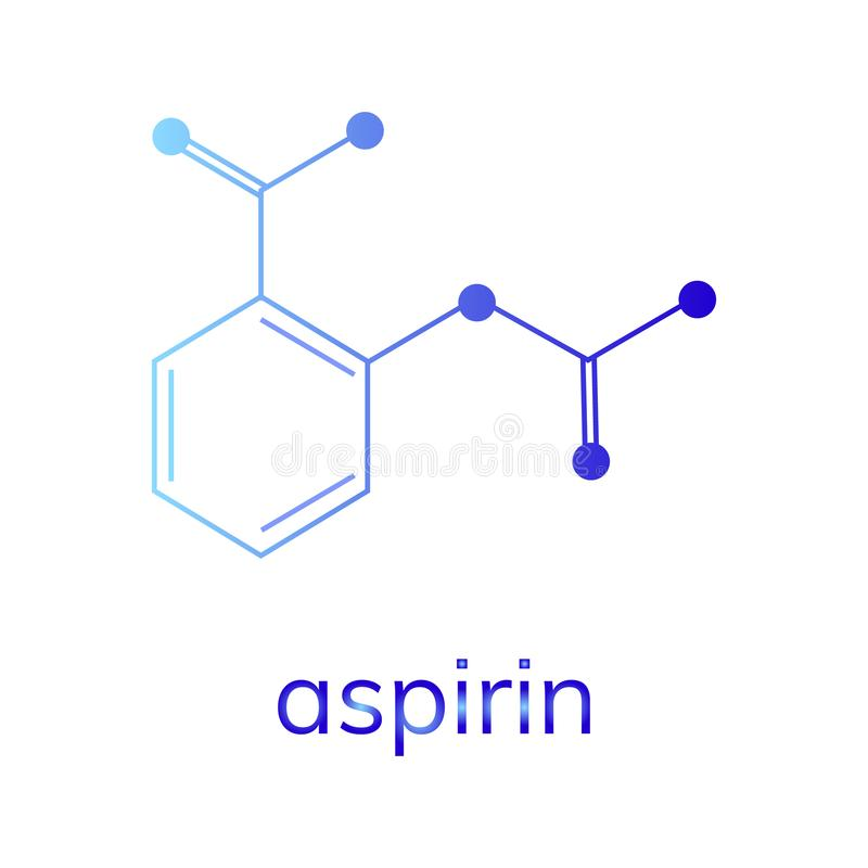 Aspirin-Vektorikone auf wei?em Hintergrund stock abbildung