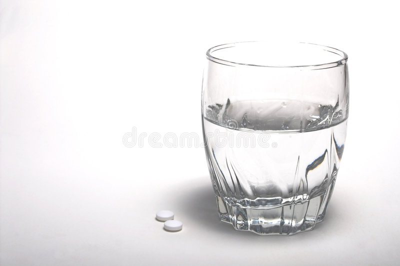 Aspirin and Water stock images