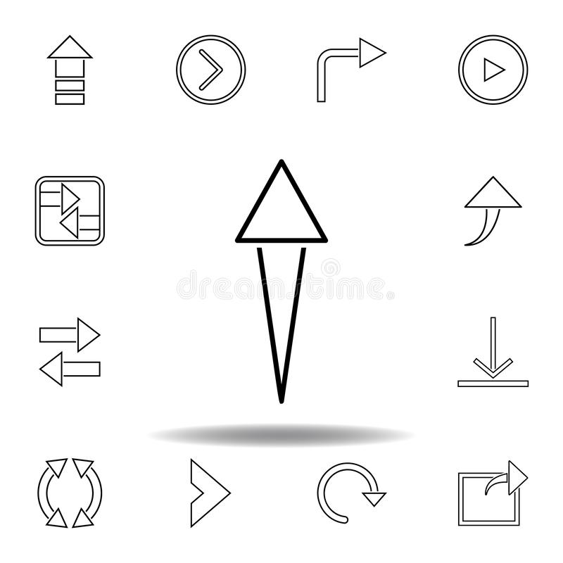 aspiring arrow icon. Thin line icons set for website design and development, app development. Premium icon royalty free illustration