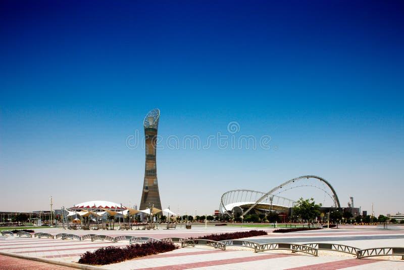Aspirujących sportów stadium, Doha, Katar zdjęcia stock