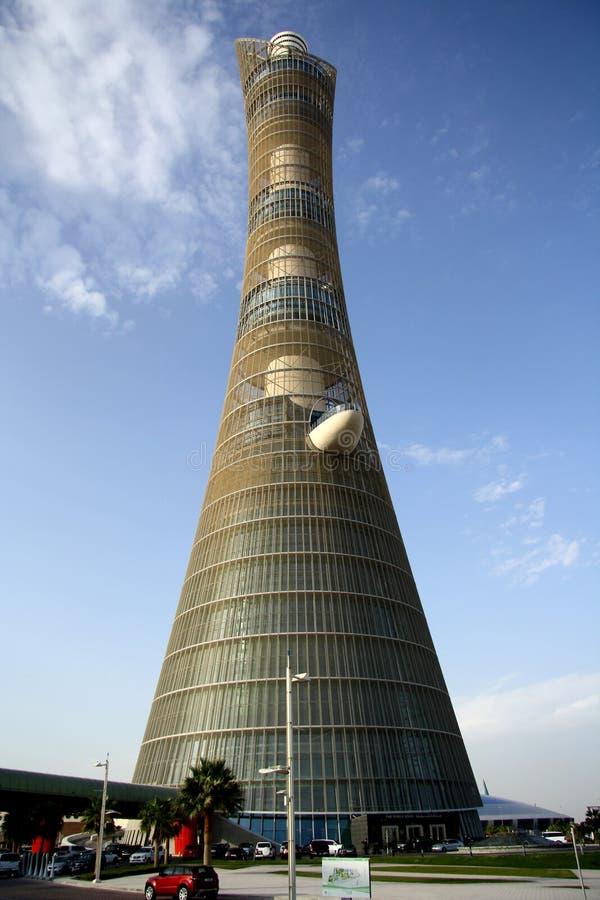 Aspiruje Basztowego aka pochodnia hotel w Doha, Katar fotografia royalty free