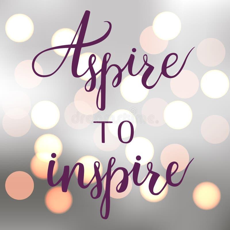 Aspiruje inspirować ilustracji