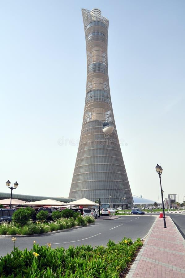Aspiruje pochodnię Doha Basztowy, Doha, Katar obrazy stock