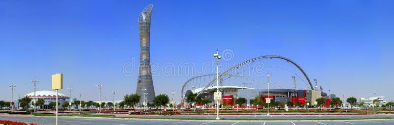 aspiruje powikłanego Doha obraz royalty free