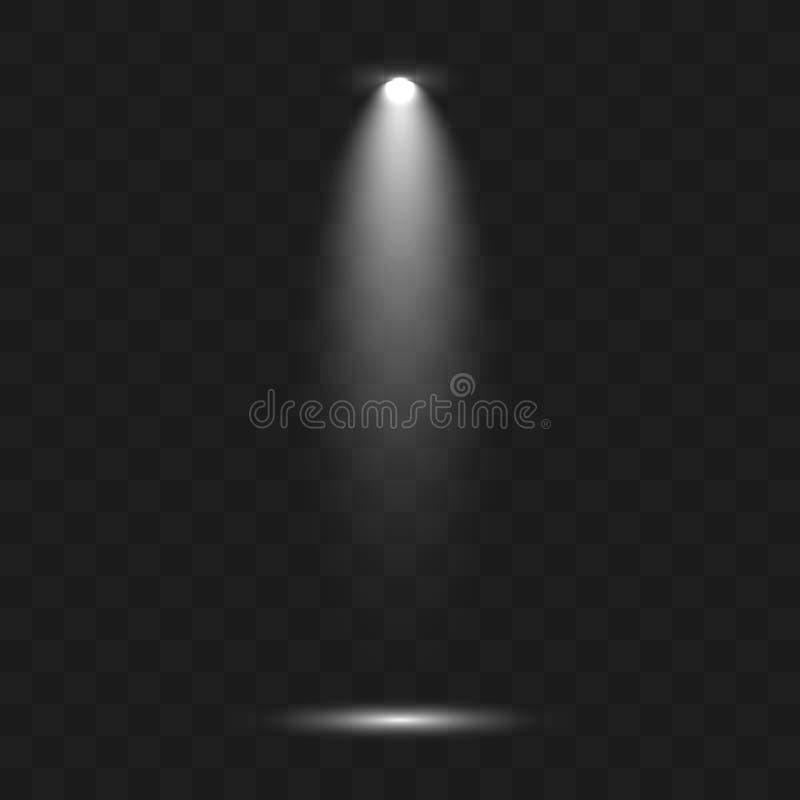 Scene illumination collection, transparent effects. stock illustration