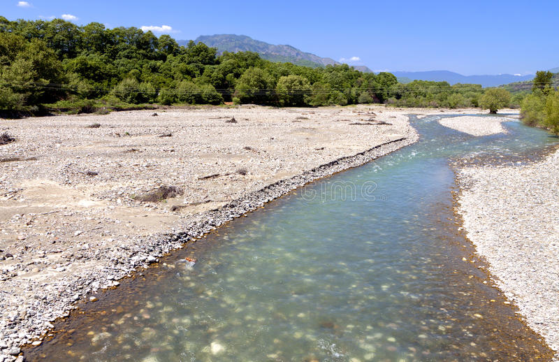 Aspropotamos River In Greece Stock Image