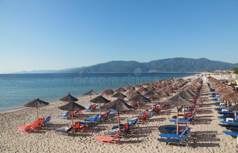 asprovalta plaża zdjęcie stock