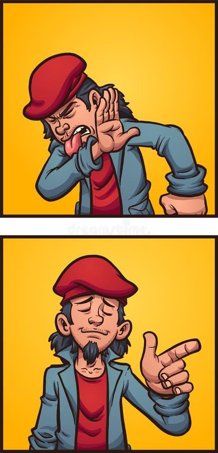Asqueado y contento libre illustration