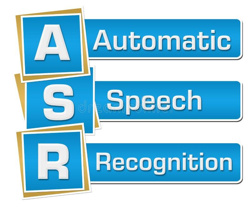 ASR - Blått för automatisk anförandeerkännande kvadrerar lodlinje vektor illustrationer