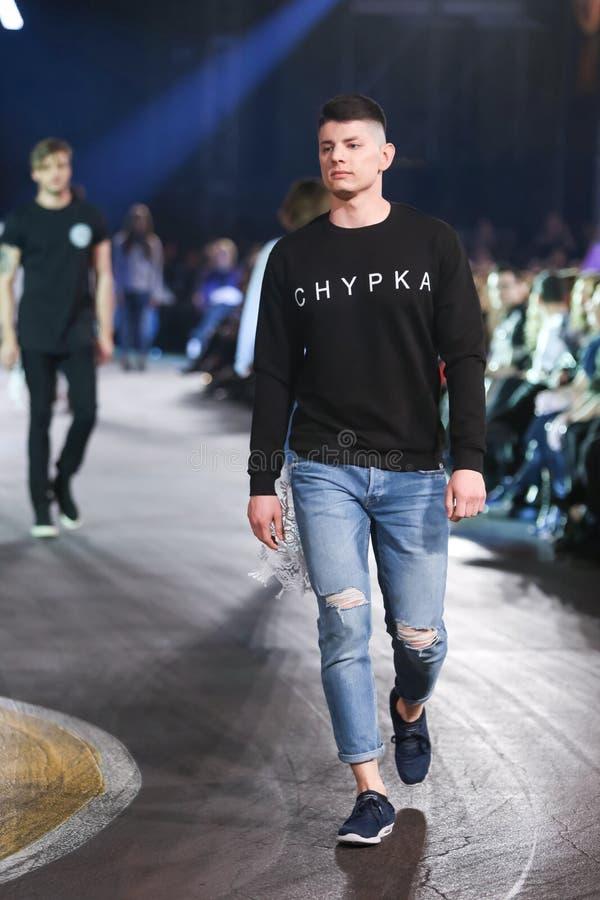 Ass.Comm. Porter Fashion Show: Chipka, Zagabria, Croazia fotografie stock libere da diritti