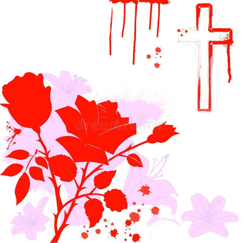 Ass.Comm. rosa e cristiane del giglio, royalty illustrazione gratis