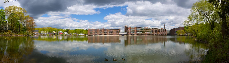 Assabet Woolen Mill, Maynard, Massachusetts, Estados Unidos imagen de archivo libre de regalías