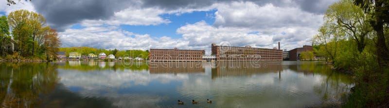 Assabet Woolen Mill, Maynard, Massachusetts, EUA imagem de stock royalty free