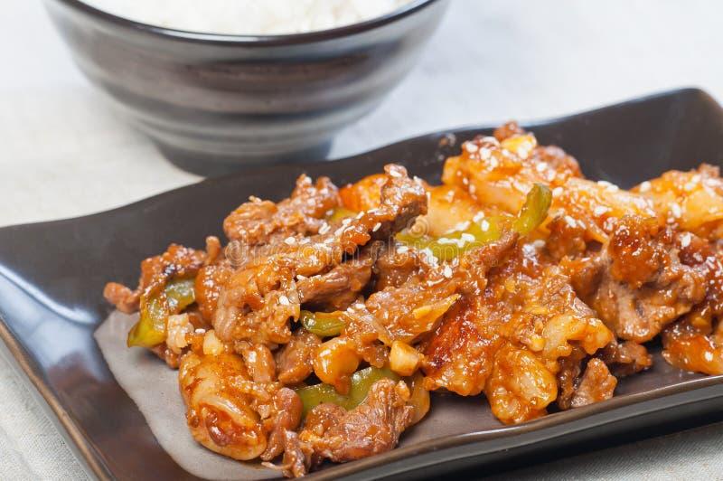 Assado coreano da carne foto de stock