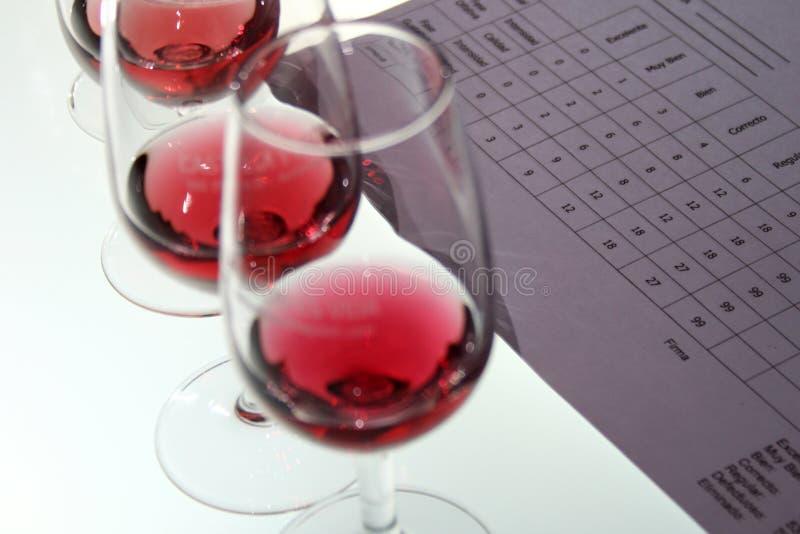 Assaggio del vino fotografia stock